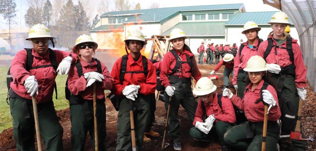 Oak Creek Female Youth Firefighters