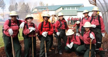 Oak Creek Female Youth Firefighters