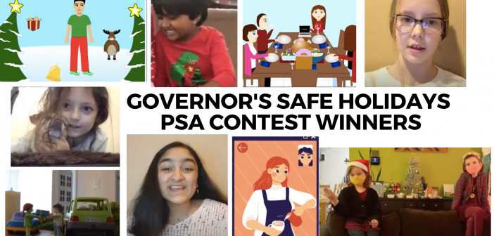 The Winners of Governor Brown's Safe Holidays Student PSA Contest