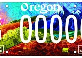 New Cultural Trust License Plate Showcases Oregon's Diversity